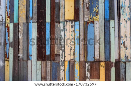 old dirty wooden wall  and wood texture background - stock photo