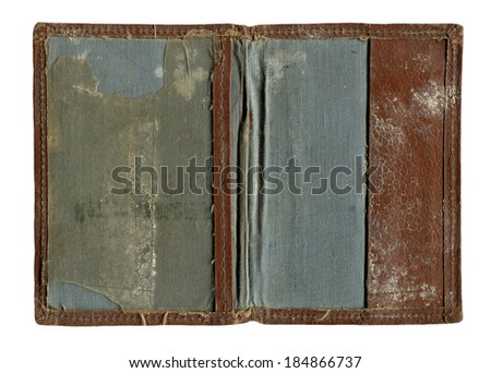 old document cover - stock photo