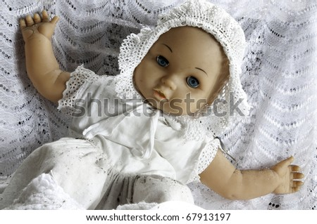 Old doll - stock photo