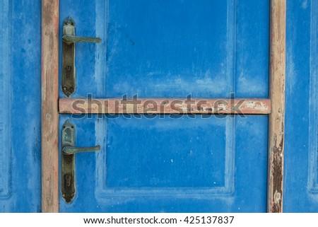 Old door detail - stock photo