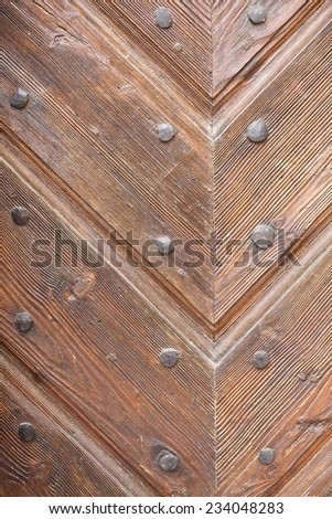 Old door in Bojnice castle, Slovakia  - stock photo