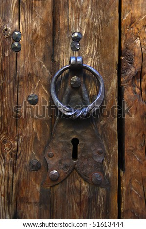 Old doorknock - stock photo
