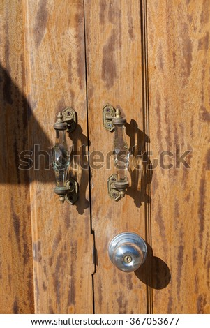 Old doors, handles, locks  windows  - stock photo