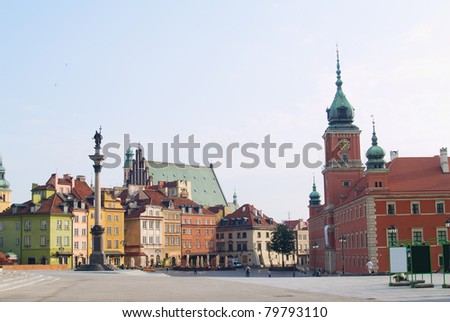old downtown of Warsaw, Poland - stock photo