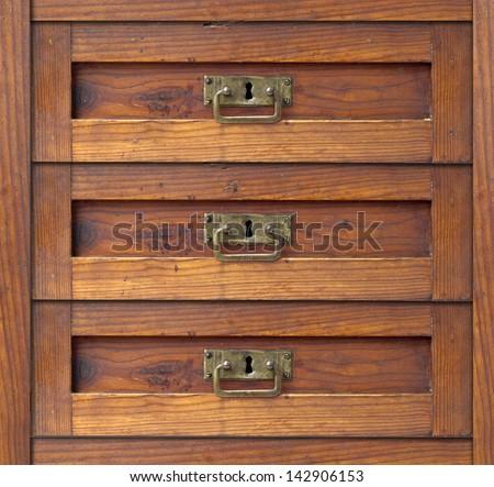 old drawer - damper - stock photo