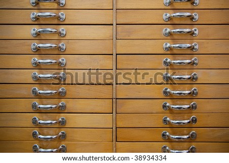 Old drawers - stock photo