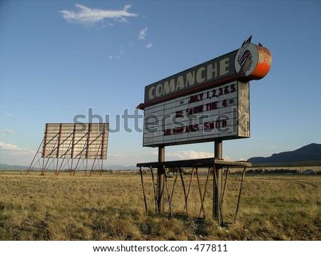 Old Drive-In Theater - stock photo