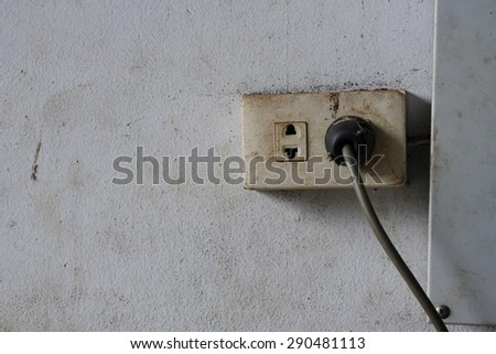Old Electric Plug (Type A and B) - stock photo