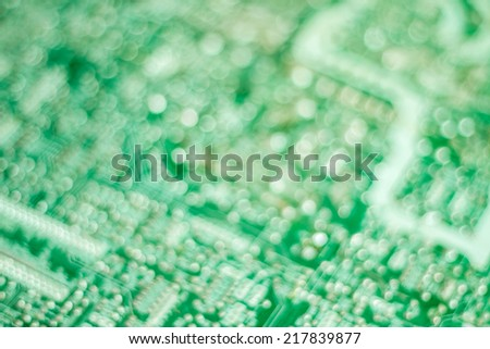 Old electronic circuit boards. blured photo. - stock photo