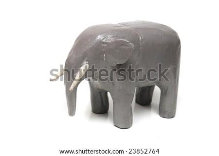 old elephant toy - stock photo