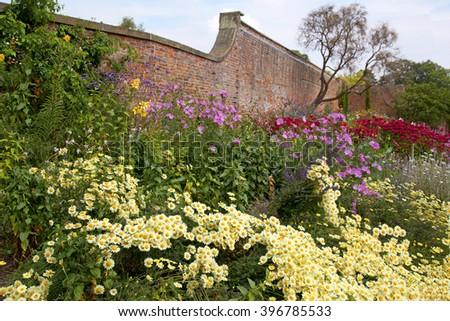 Old English Garden Border - stock photo