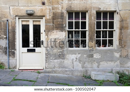 Old English Stone Cottage Exterior Built Circa 1750 - stock photo