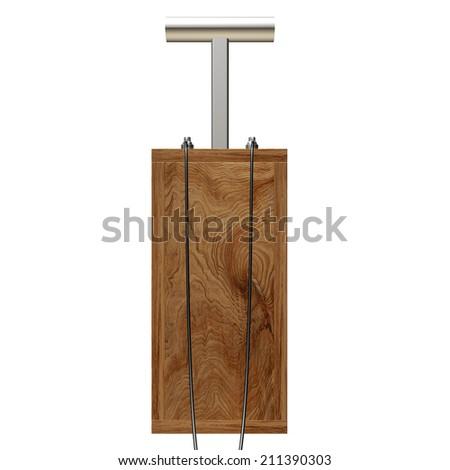 Old explosive detonator wooden. isolated on white background. 3d - stock photo
