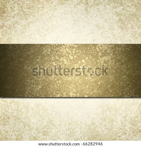 old faded soft off white background with elegant textured gold ribbon stripe for copy space design to add your own text or title - stock photo