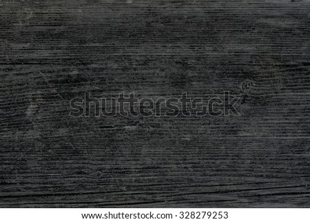 Old faded wooden texture of weathered black wood. Vintage rustic style. Natural surface, background and wallpaper. - stock photo