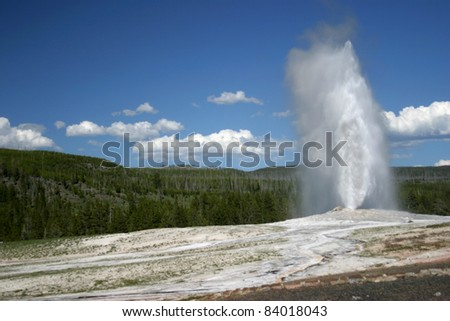 Old Faithful Geyser - stock photo