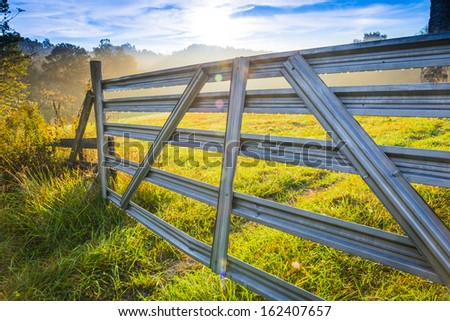 Old Farm Gate, Close-up - stock photo