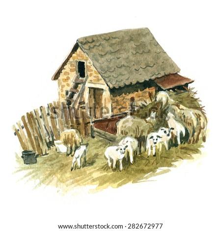 Old farmhouse - stock photo