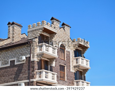 old fashion building - stock photo