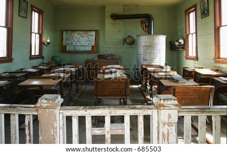 Old fashion school house - stock photo