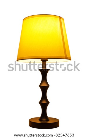 Old fashion table lamp isolated - stock photo