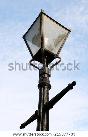 Old Fashioned Antique Street Light on a London Street - stock photo