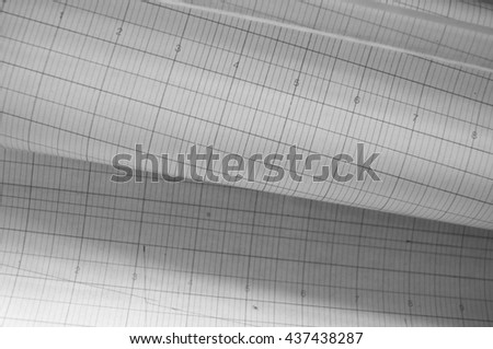 old-fashioned computing paper - stock photo