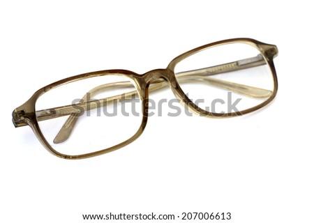 Old fashioned eyeglasses - stock photo