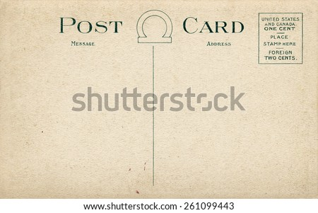 Old Fashioned Postcard, high resolution - stock photo