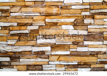 old fashioned stone wall background - stock photo