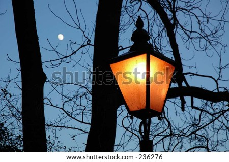 old fashioned street light - stock photo
