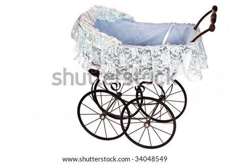 old fashioned stroller - stock photo
