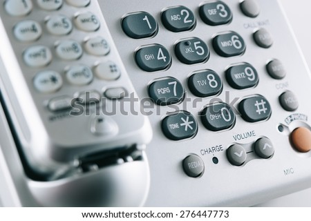 Old fashioned wireless phone - stock photo
