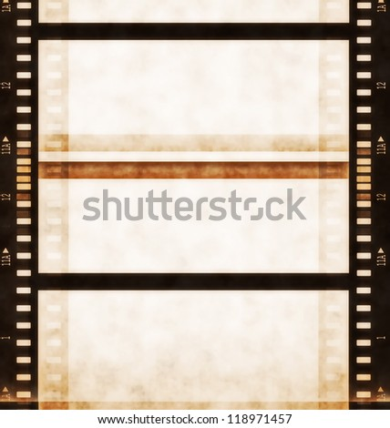 Old film roll background - stock photo
