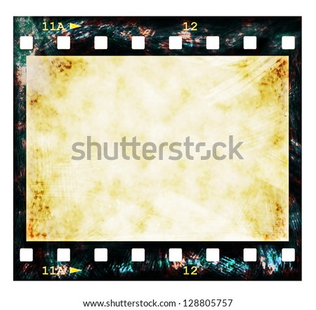 old film strip background, texture - stock photo