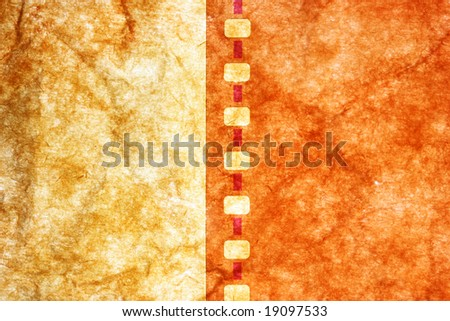 Old film strip close-up over grunge background - stock photo