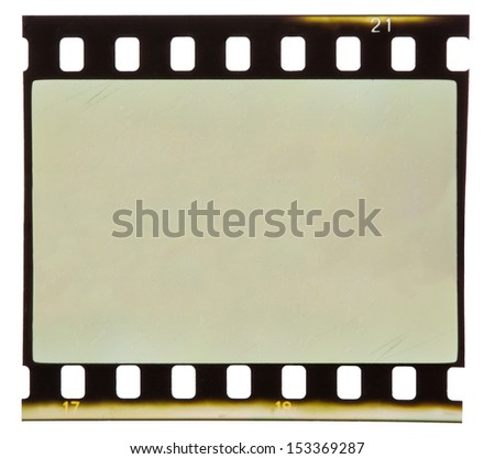 Old film strip isolated on white backgroung - stock photo