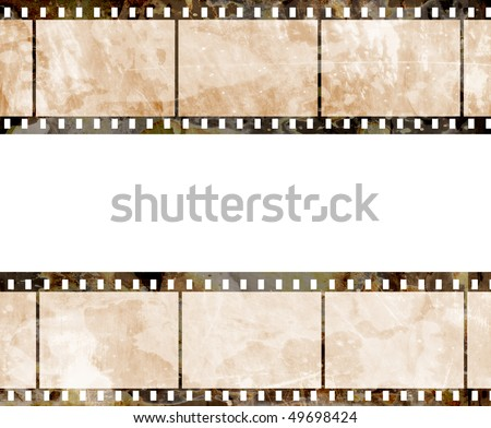 old film strip with some spots - stock photo