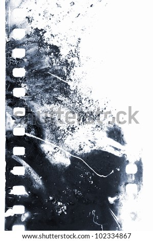 old filmstrip - stock photo