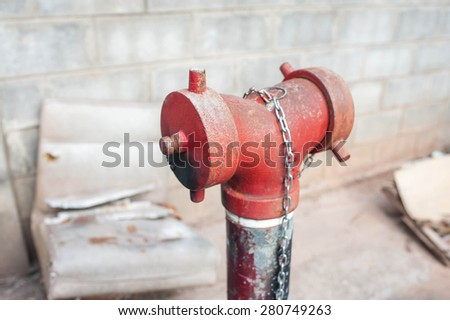 Old fire hydrant - stock photo