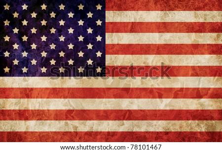 Old 1960 flag of USA, USA flag for USA Independence Day, USA The Stars and Stripes flag, USA Old Glory flag, USA Star Spangled Banner flag - stock photo