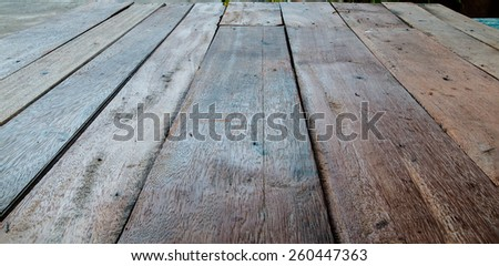 old floor made by wood - stock photo