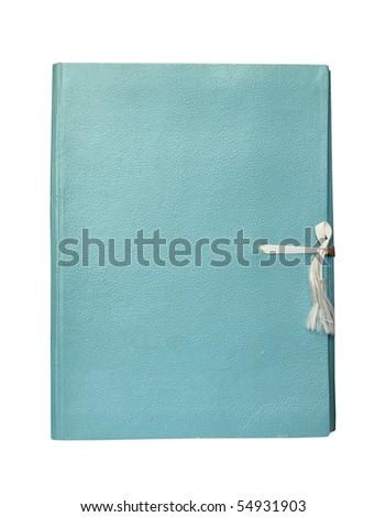 old folder isolated on white background - stock photo