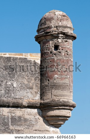 Old fort defense tower - stock photo
