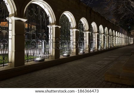 old fortress in Baku - stock photo