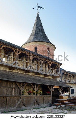Old Fortress in the Ancient City of Kamyanets-Podilsky, Ukraine - stock photo