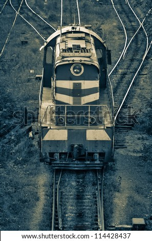 Old Freight Train. - stock photo