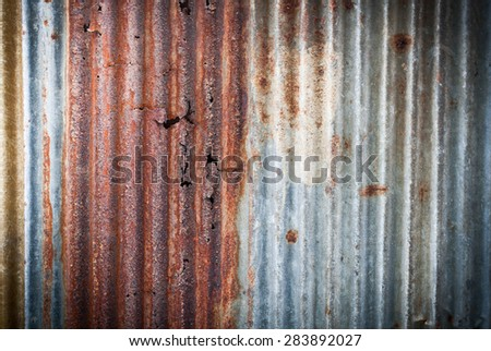 Old galvanized steel for background - stock photo