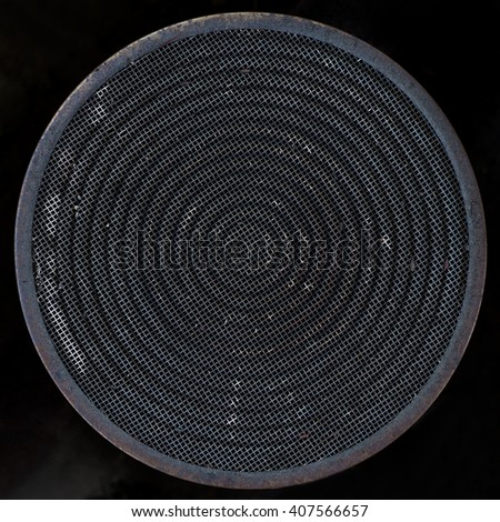 Old Gas Stove Burner Head - stock photo