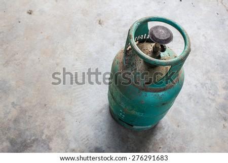 Old gas tanks - stock photo
